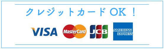 クレジットカードOK!
